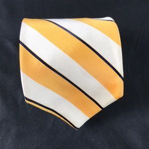 Ted Baker White and Yellow Striped Tie